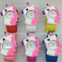 Wholesales Cheap Cartoon Digital Silicone Slap Watch For Children