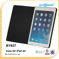 High Quality 9.7 inch Tablet Leather wood Case Wireless Bluetooth Keyboard Case for iPad Air 2