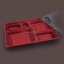 Disposable compartment safe plastic microwave tray with lid