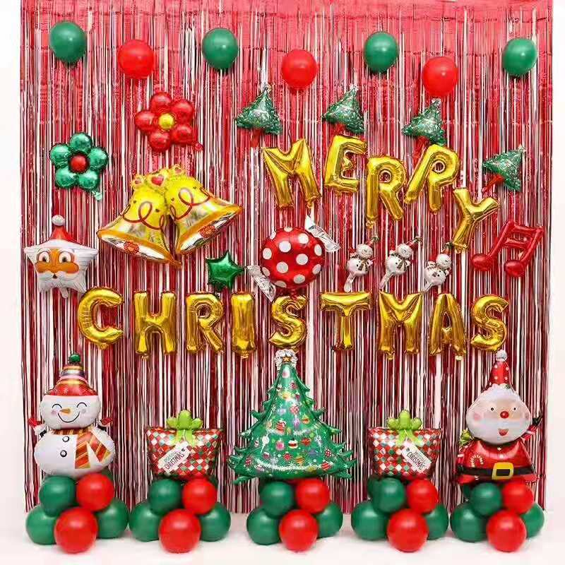 New MERRY CHRISTMAS Foil balloons Hot Sell Aluminum Foil Balloon Set for Christmas Decoration