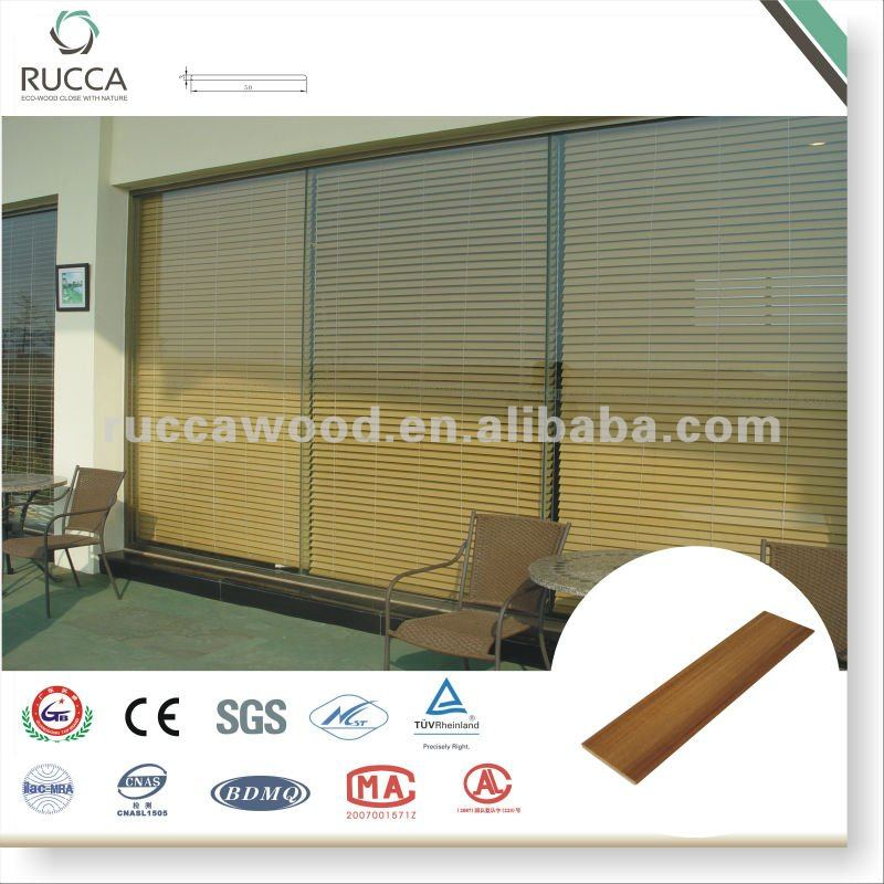 WPC Slats For Blind Teak,White 50*3mm
