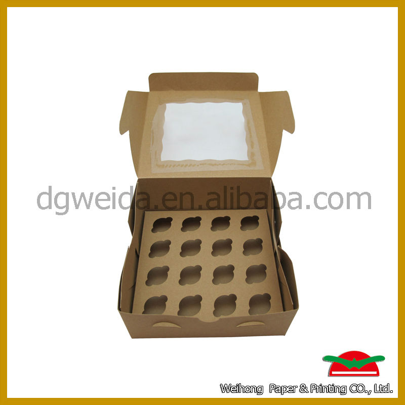 chocolate brown cupcake box china wholesale