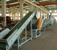 big capacity used plastic pet bottle crushing washing drying recycling line