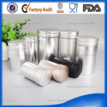 food grade glossy finish or matte finish metal round tins, round tin can with lid