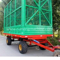 high hurdle 10 ton grass trailer with back dump for sale