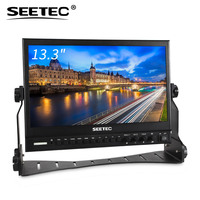Aluminum Design IPS 1920x1080 FHD 3G-SDI/HDMI Widescreen Monitor 13.3 lcd panel with SDI Loop Out