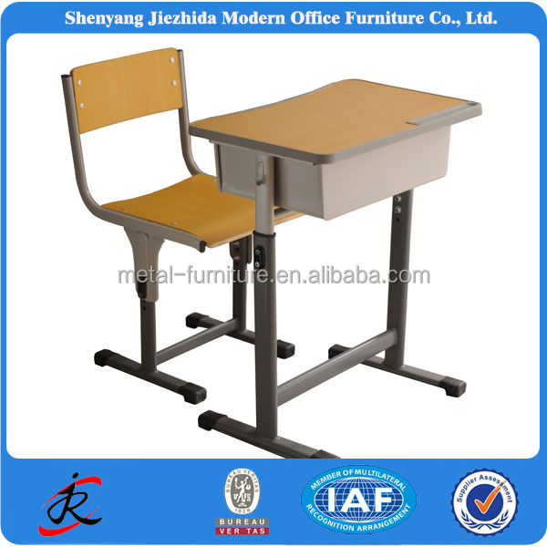 2013 New Design school furniture student desk and chair /Adjustable school desk and chair