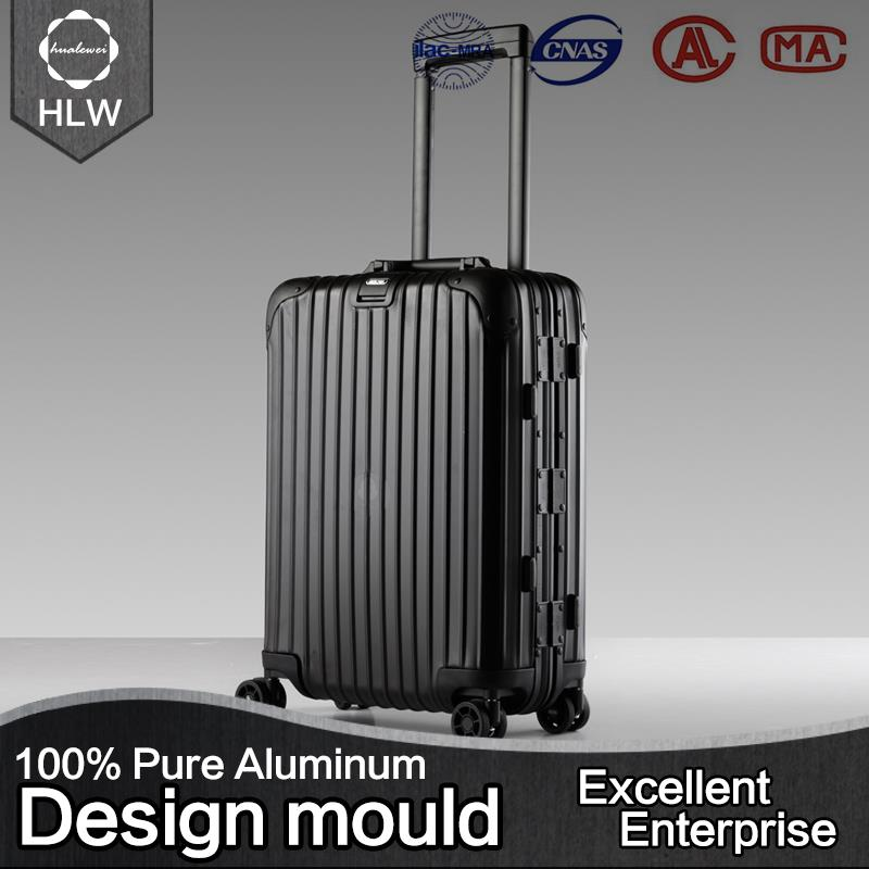 Suitcase president primark aluminum luggage travel bags