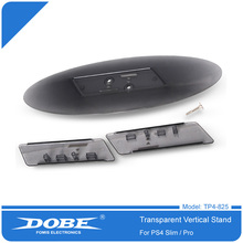 DOBE Transparent Vertical Stand Holder for PS4 Slim PS4 Pro Game Console