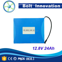 Rechargeable Lifepo4 12v 24ah battery for solar lights home depot