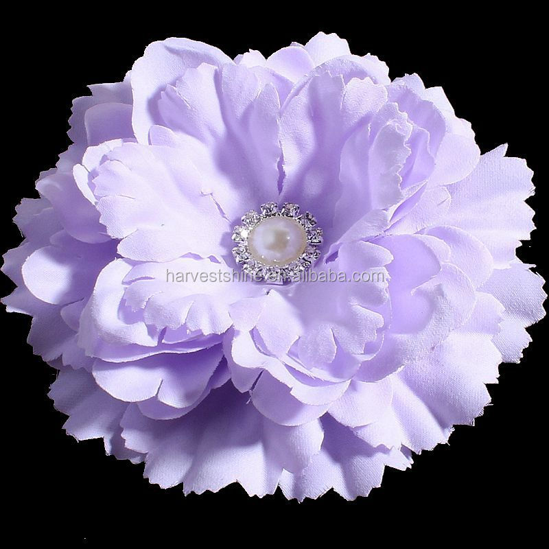 Bulk Artificial Flower With Pearl Center,Fabric Flower For Dress Decoration
