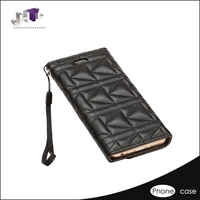 fashion smart phone flip wallet leather case for sony