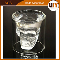 Halloween Crystal Skull Head Vodka Shot Glass Drinking Ware for Home Office Bar