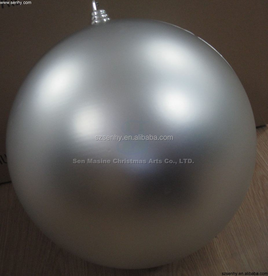Shopping mall large decorative plastic christmas ball giants