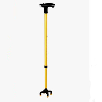 Four-foot walking cane with LED light