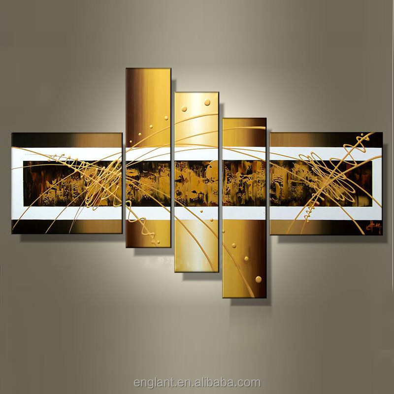 5 Piece Abstract Canvas Wall Paintings Design View