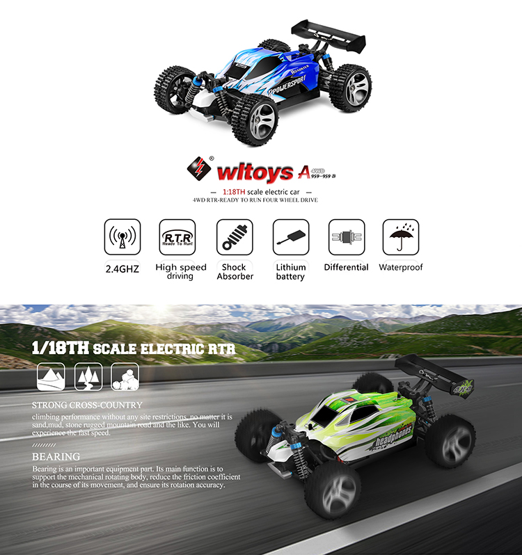 Retail WL Toys A959-B 4WD high speed rc car 70kmh remote control car