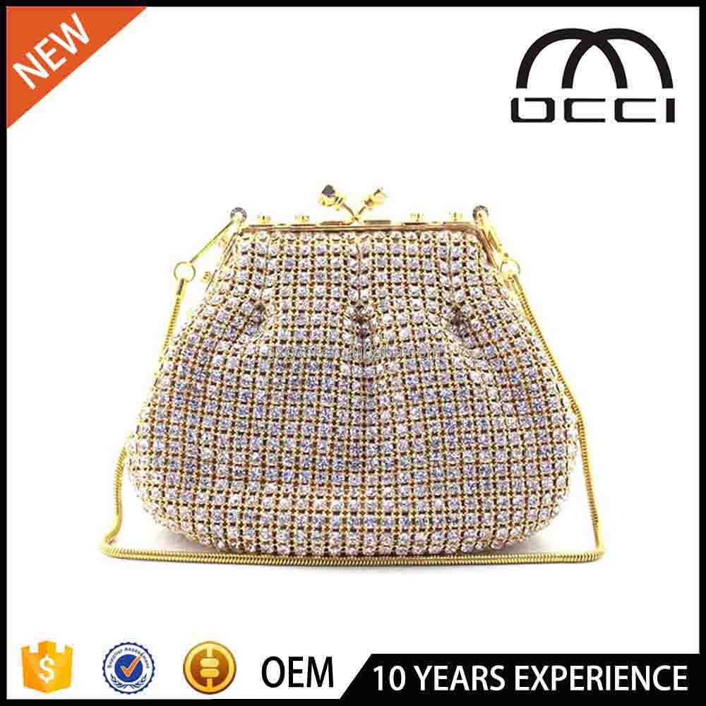 Graceful Ladies Crystal Clutch dinner bags Pouch Evening Bag for lady SC2388