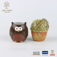 Harvest Animal Owl And Acron Ceramic