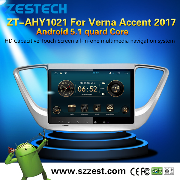 3D car gps navigation for hyundai verna/accent 2017 with 1080P vedio support digital TV