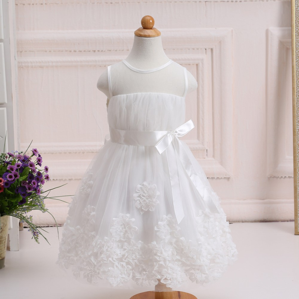 Fashion Modern Girls Dresses Flower tulle Dress Little Girls Party Dress <strong>W003</strong>
