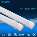 Factory wholesale t8 led tube ligths 4ft 1200mm 18w ac100-277v
