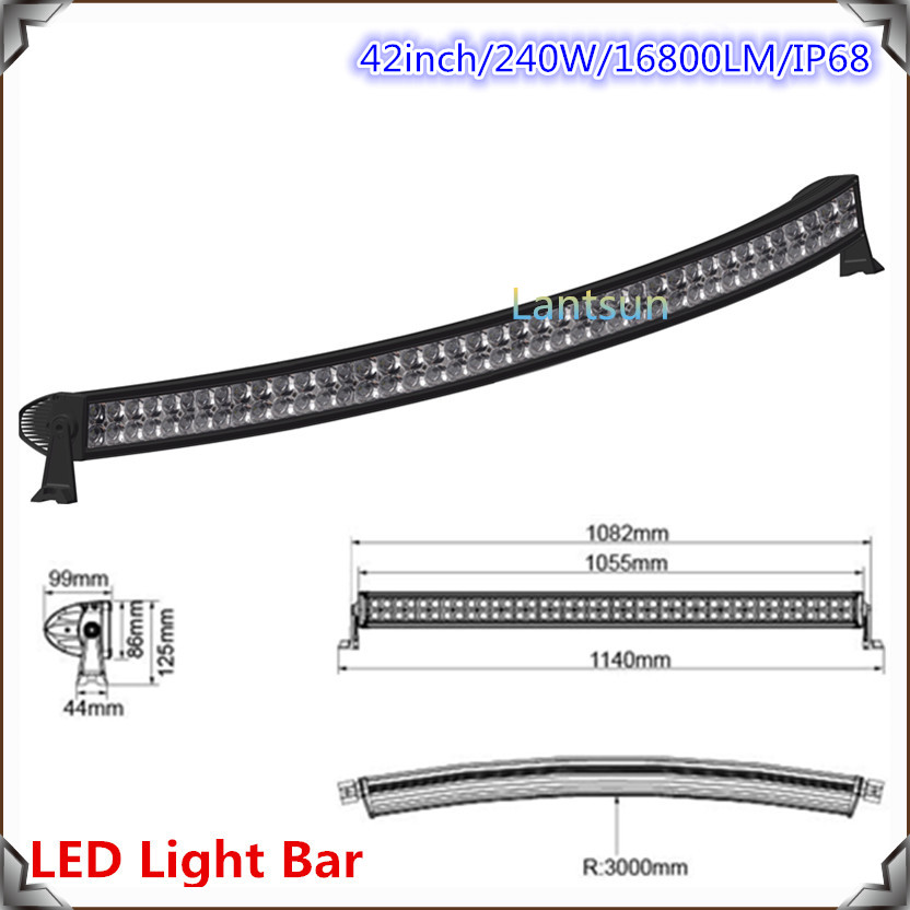 Discount! 240w Curved LED Light Bar for 4x4 ATV SUV off road