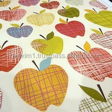 Apple Multi Color Print Fabrics For Pillow