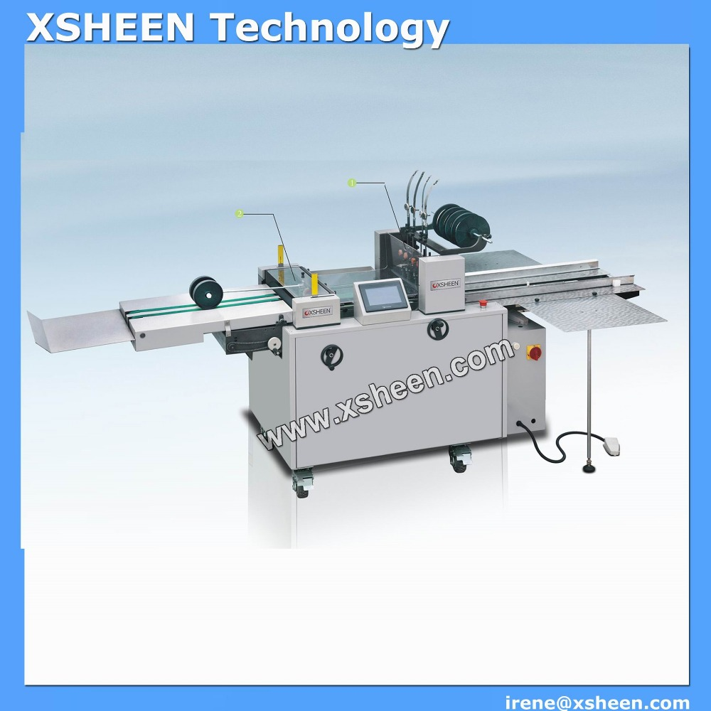 Fully automatic exercise book wire stitching machine