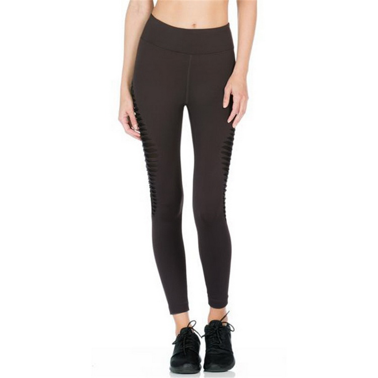 Manufacturers wholesale new style hollow thread cross leggings yoga fitness pants for women