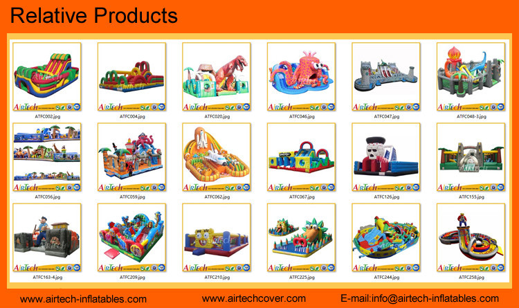 Colorful inflatable funcity for sale