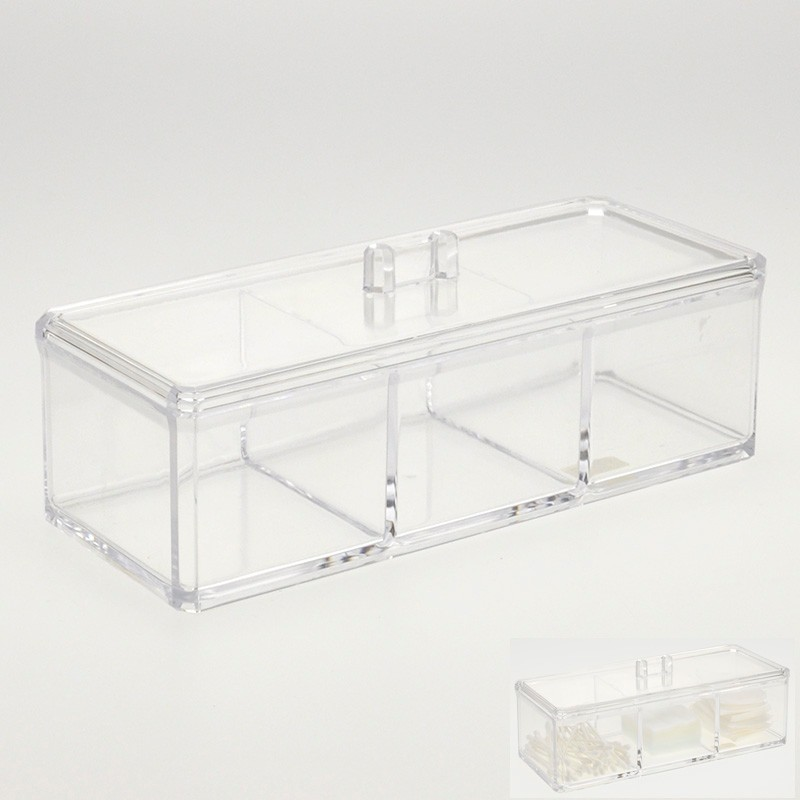 New Collection 3 Divisoria Clear Acrylic Makeup Storage Box