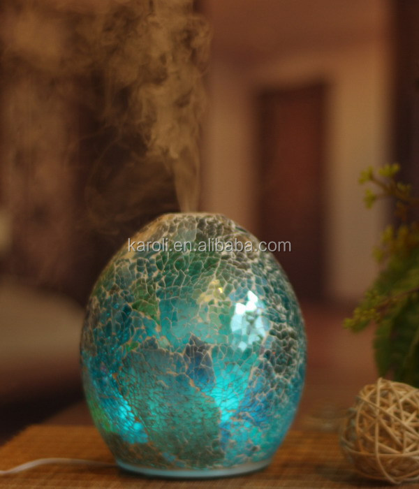 New Egg shape Jade glass Electric Ultrasonic aromatherapy diffuser ,120ml cool mist humidifier , aroma mister make