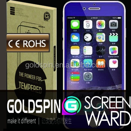 GOLDSPIN full cover for iphone 6 colourful tempered glass screen guard