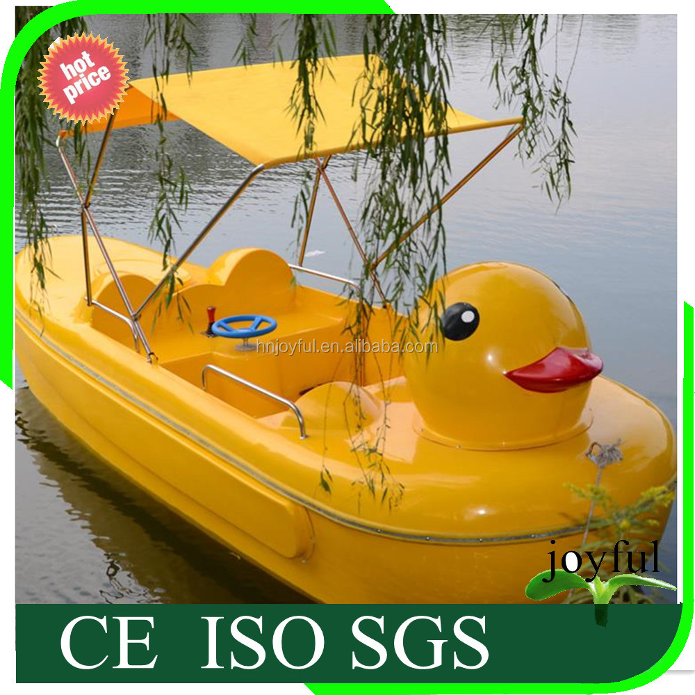 Amusement water park rides cartoon design electric boat electric paddle boats for sale