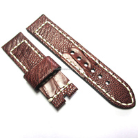 beautiful ostrich leg leather handmade watch strap 24mm