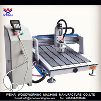 Cheap price small size 6090 cnc router /cnc machine for cylinder making