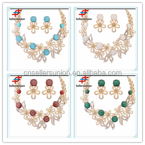 No.1 yiwu exporting commission agent wanted fashion delicate necklace set jewelery set