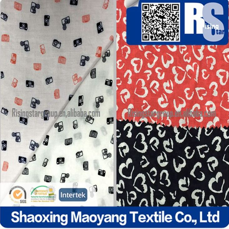 Risingstar China Factory High Quality Fashion fabric 2016 Garment fabric 60*60 100% printed rayon fabric