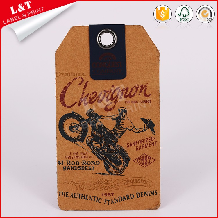 Fashionable Customized Kraft Paper Luggage Tags