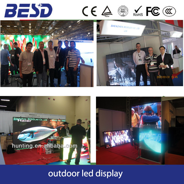 Waterproof High brightness outdoor p10 Dip 3n1 waterproof led display board