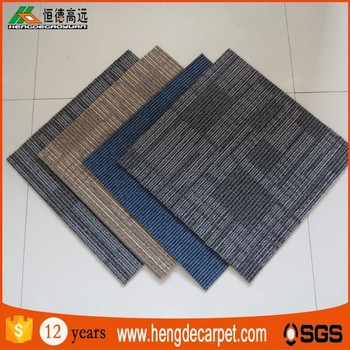 commercial pp flooring carpet tiles square for office and shop