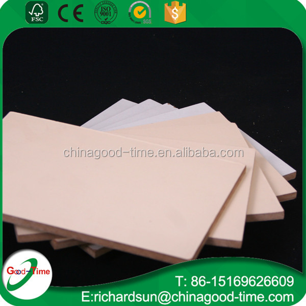 2-18mm thickness melamine mdf and hdf board