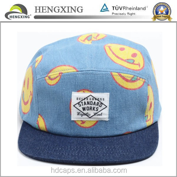 Custom Adults fresh prince style 5 panel hats from China