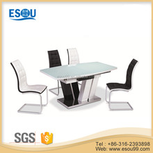 Modern Extendable Glass Dining Table