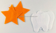 2018 New fashion design hot sale cheap handmade Mother Day craft tooth decoration wholesale die cut felt star pattern fabric