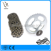 High Quality Motorcycle Chain And Sprocket Kit 428H-118L 43Z-16Z For 1023 Steel HONDA TITAN FAN 2009 (SCORPION)