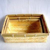 Stationery & gift store durable bamboo storage box,storage baskets