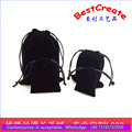 Factory Price Black velvet jewelry bags pouches
