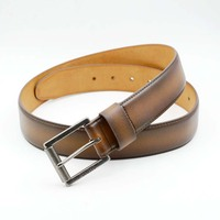 Genuine Split Leather Belts Square Pin